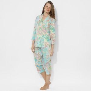 Capri Pajamas Lauren Ralph Lauren Paisley XL